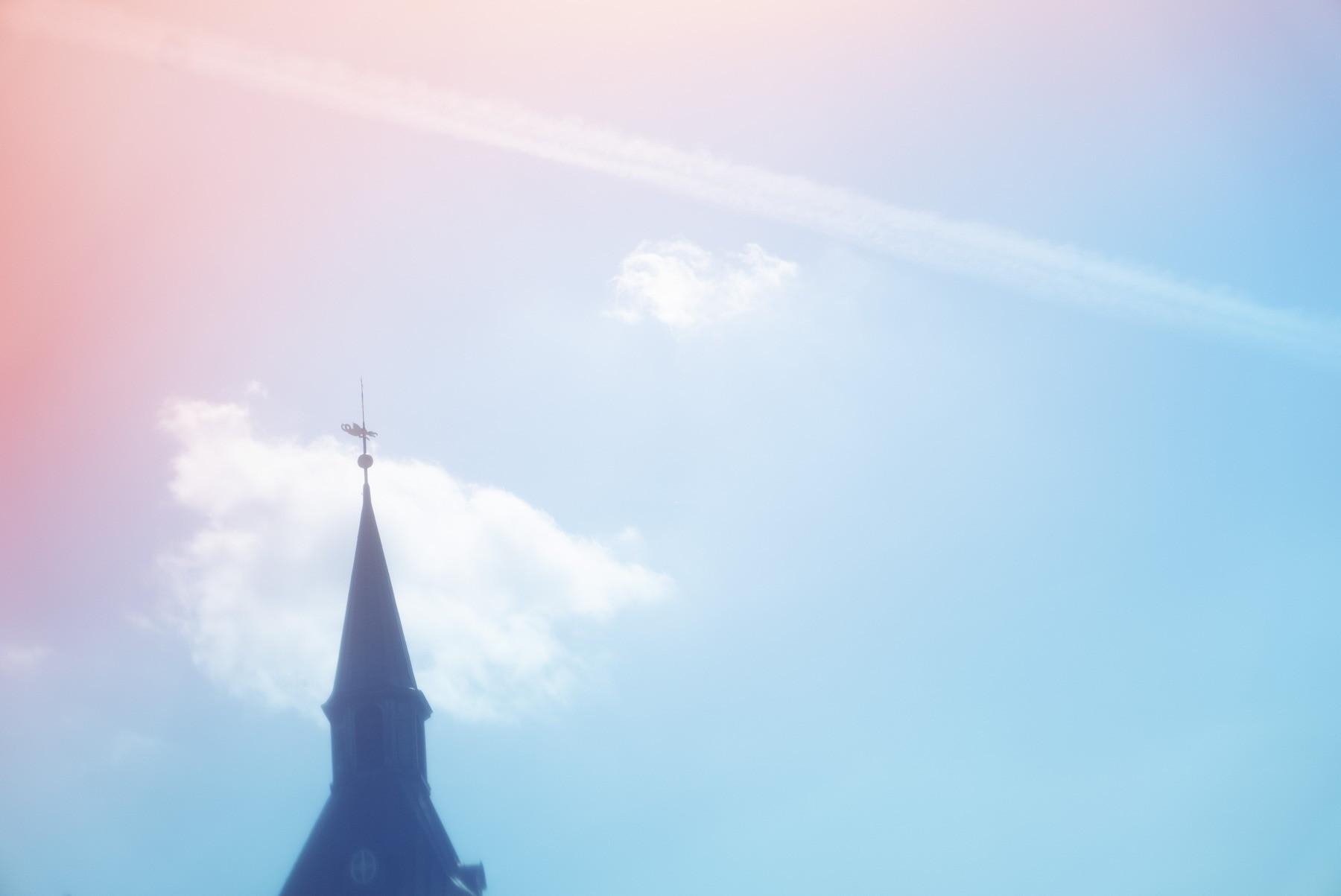 Fotosjov: Farvelader på filtret - farvet himmel