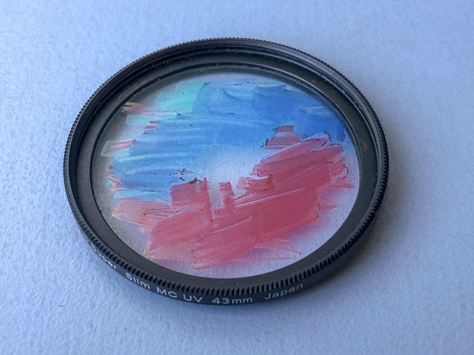 Fotosjov: Farvelader på et UV-filter