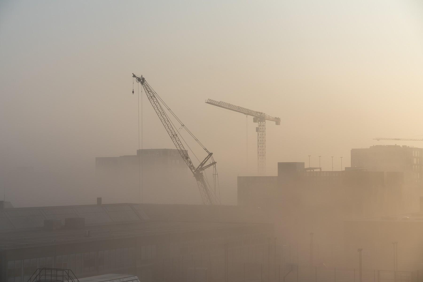 Ørestad indhyllet i tåge