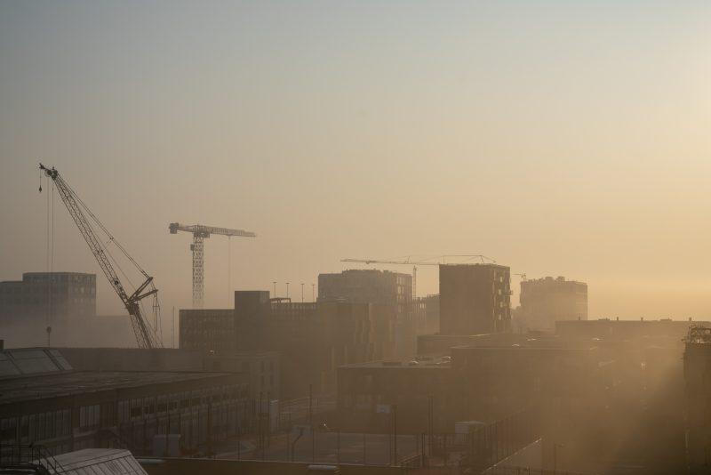 Ørestad og Bellakvarter indhyllet i tåge