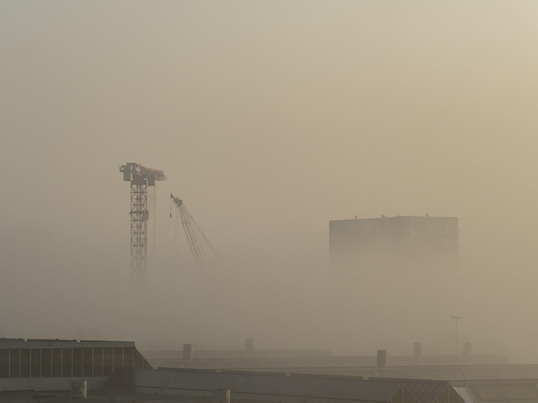 Ørestad i kraftig tåge
