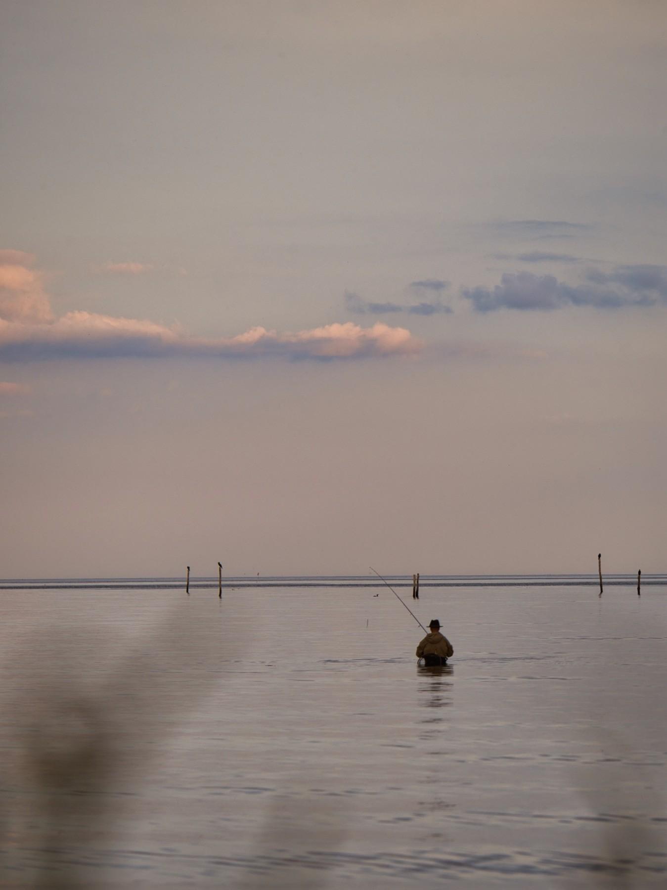 Fiskere ved Mosede Havn