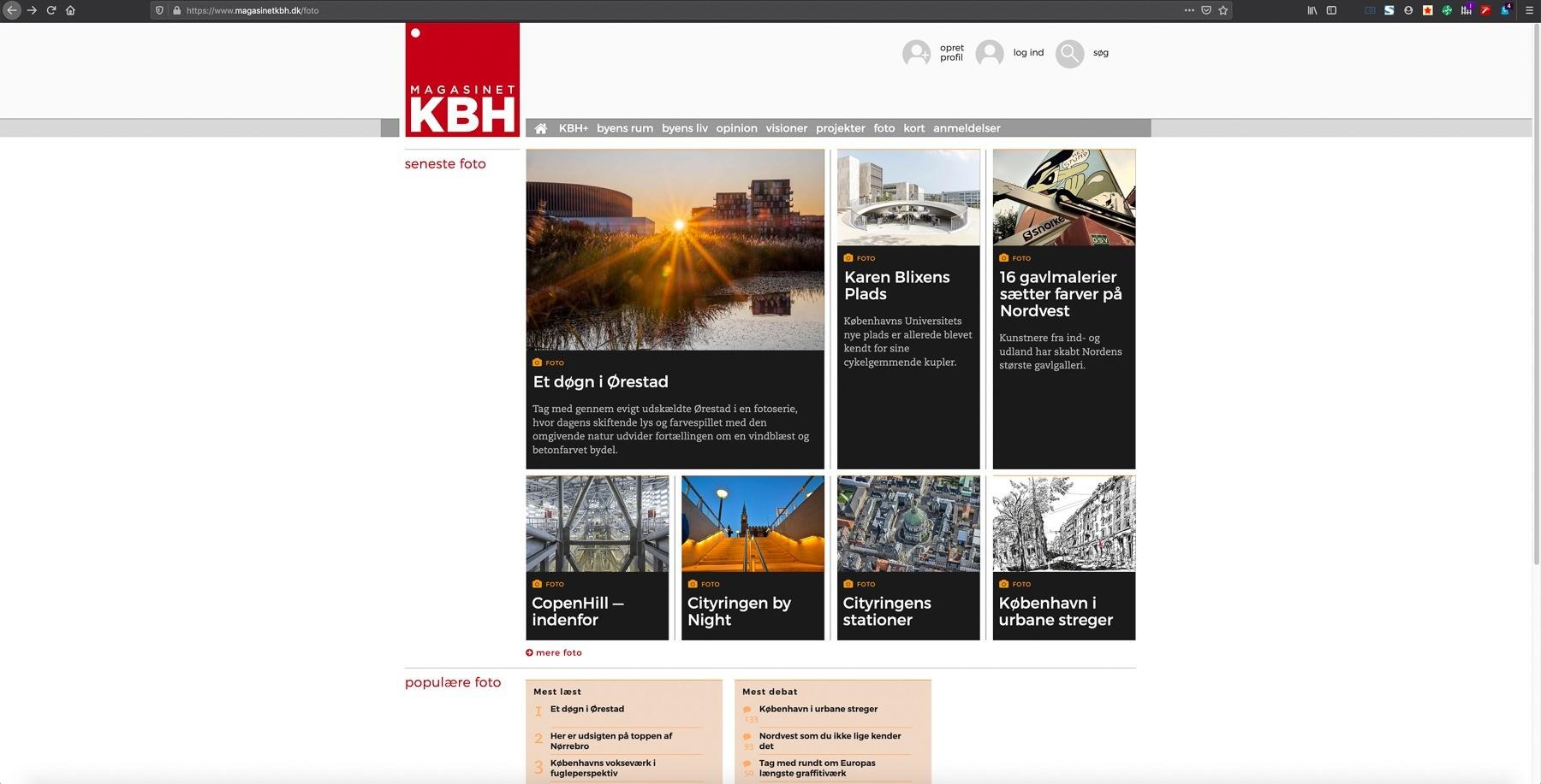 Et døgn i Ørestad i magasinet KBH