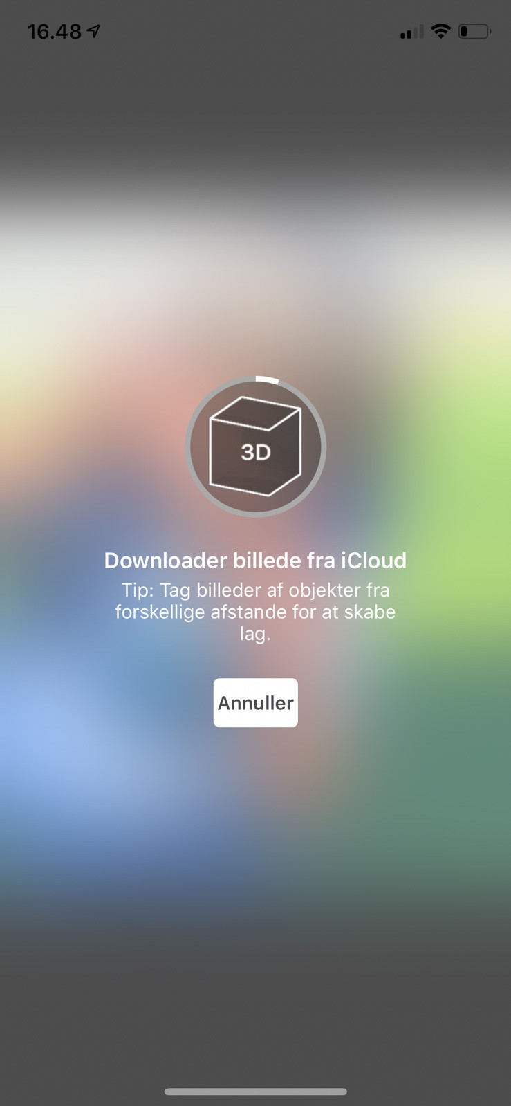 3D fotos med Facebook appen