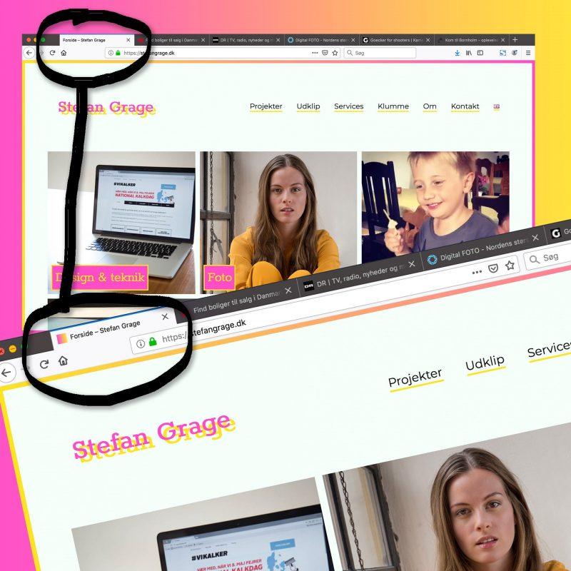 Husk et favicon til dit website