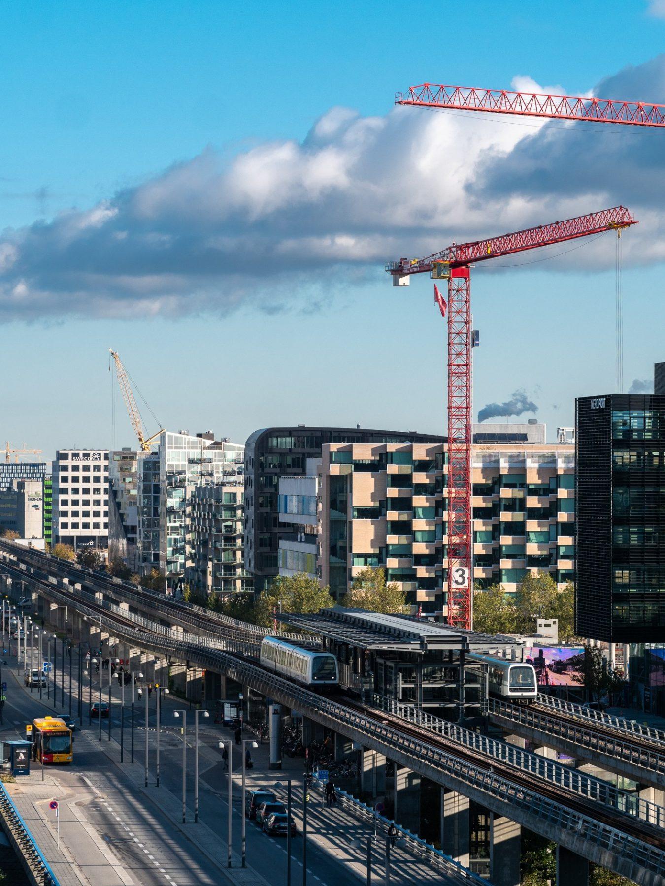 Højhuse i Ørestad, efterår 2019