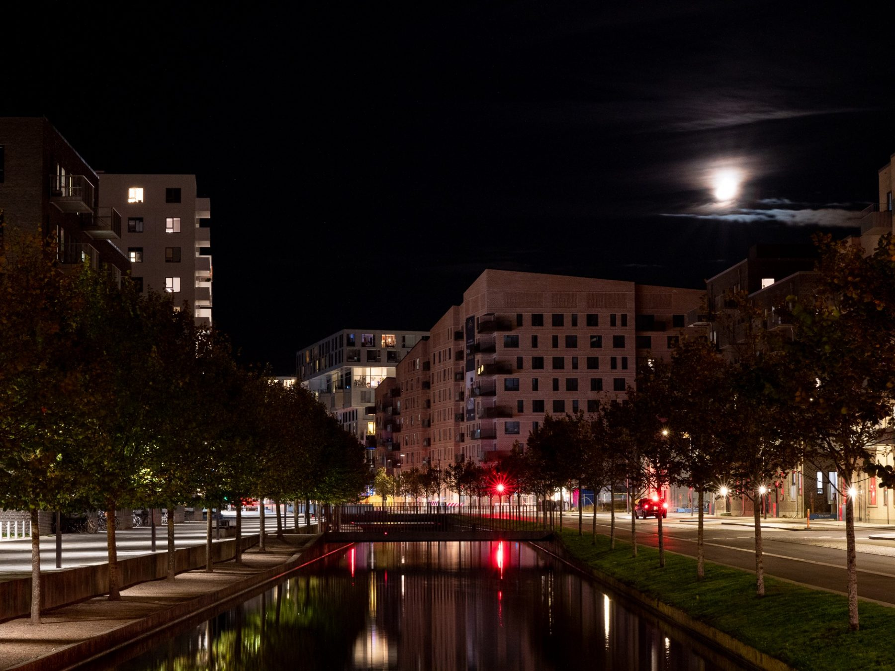Ørestad Syd om natten