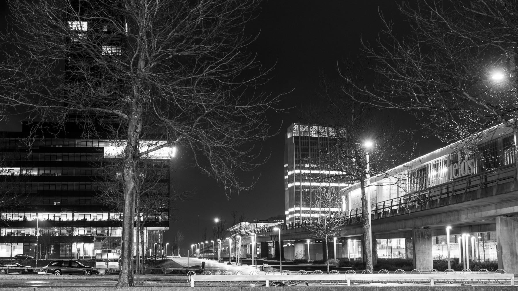 Ferring, Copenhagen Towers og Fields om natten, Downtown Ørestad