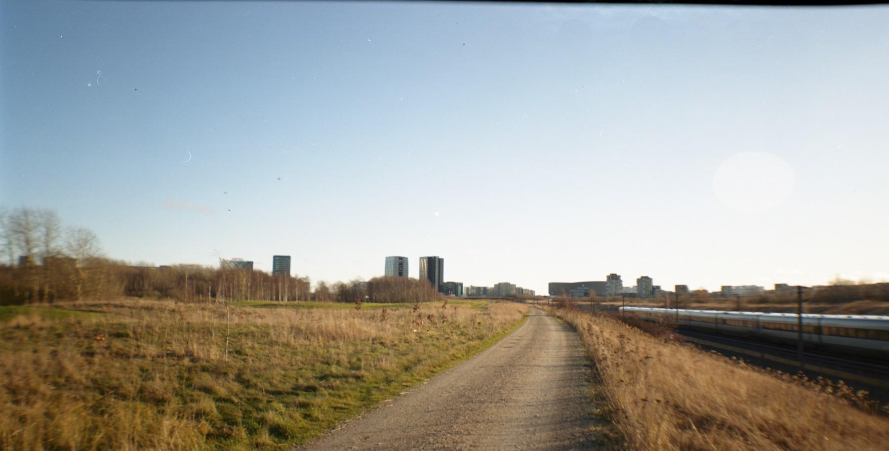 Panorama af Ørestad - Lomo Belair