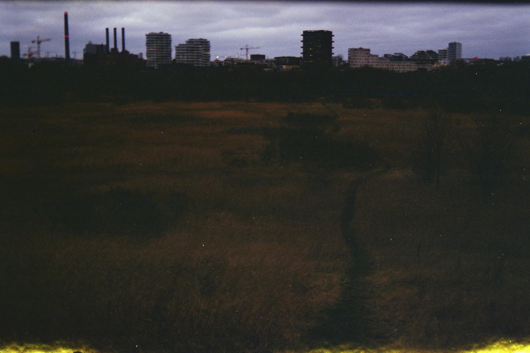 Ørestads skyline set med et Lomo Belair