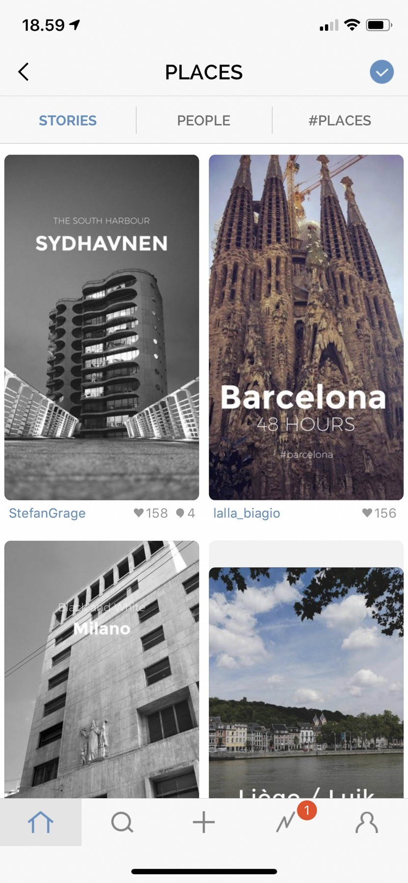 """Sydhavnen var den mest populære historie i kategorien """"places"""" for en periode"""