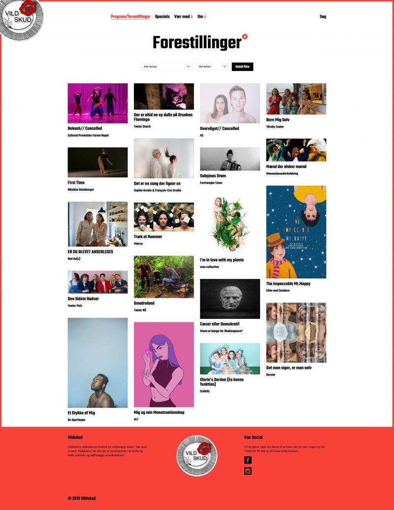 Vildskud.dk: WordPress baseret website