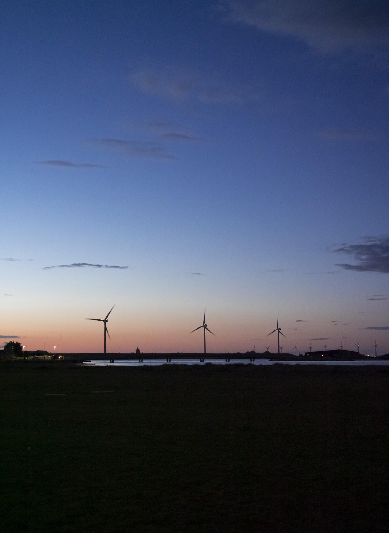 Solnedgang ved Amager Strand