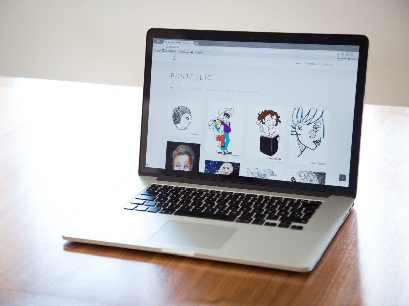 Coretoon.dk - portfolio webdesign