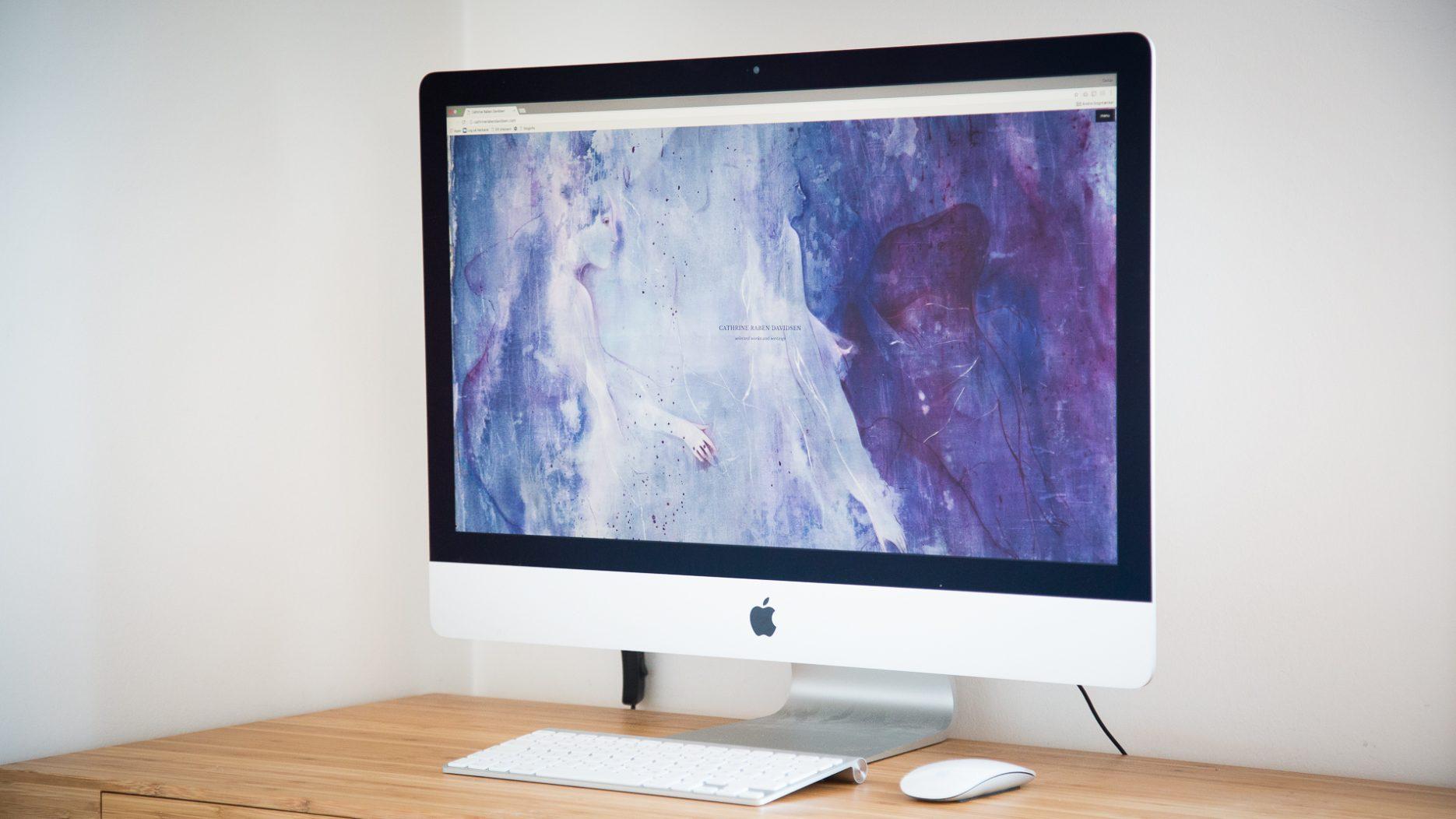 cathrinerabendavidsen.com website redesign