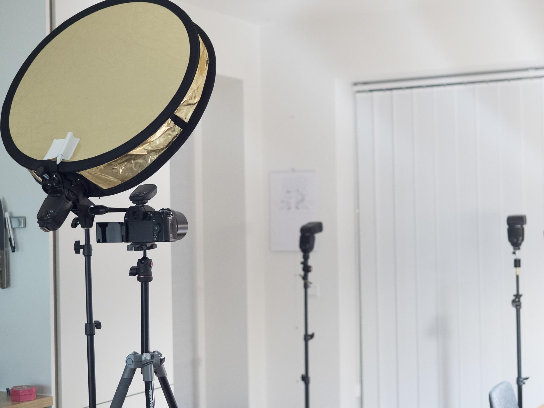 Setup til high-key selvportræt