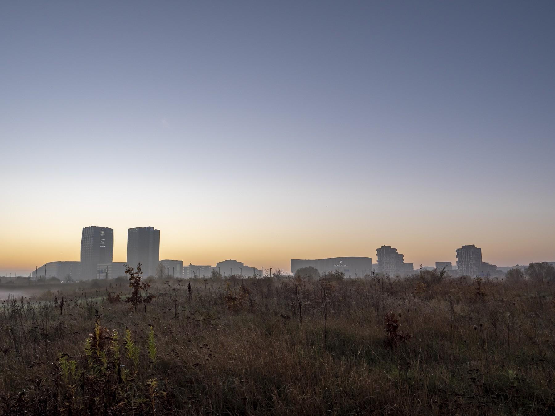 Ørestad ved solopgang