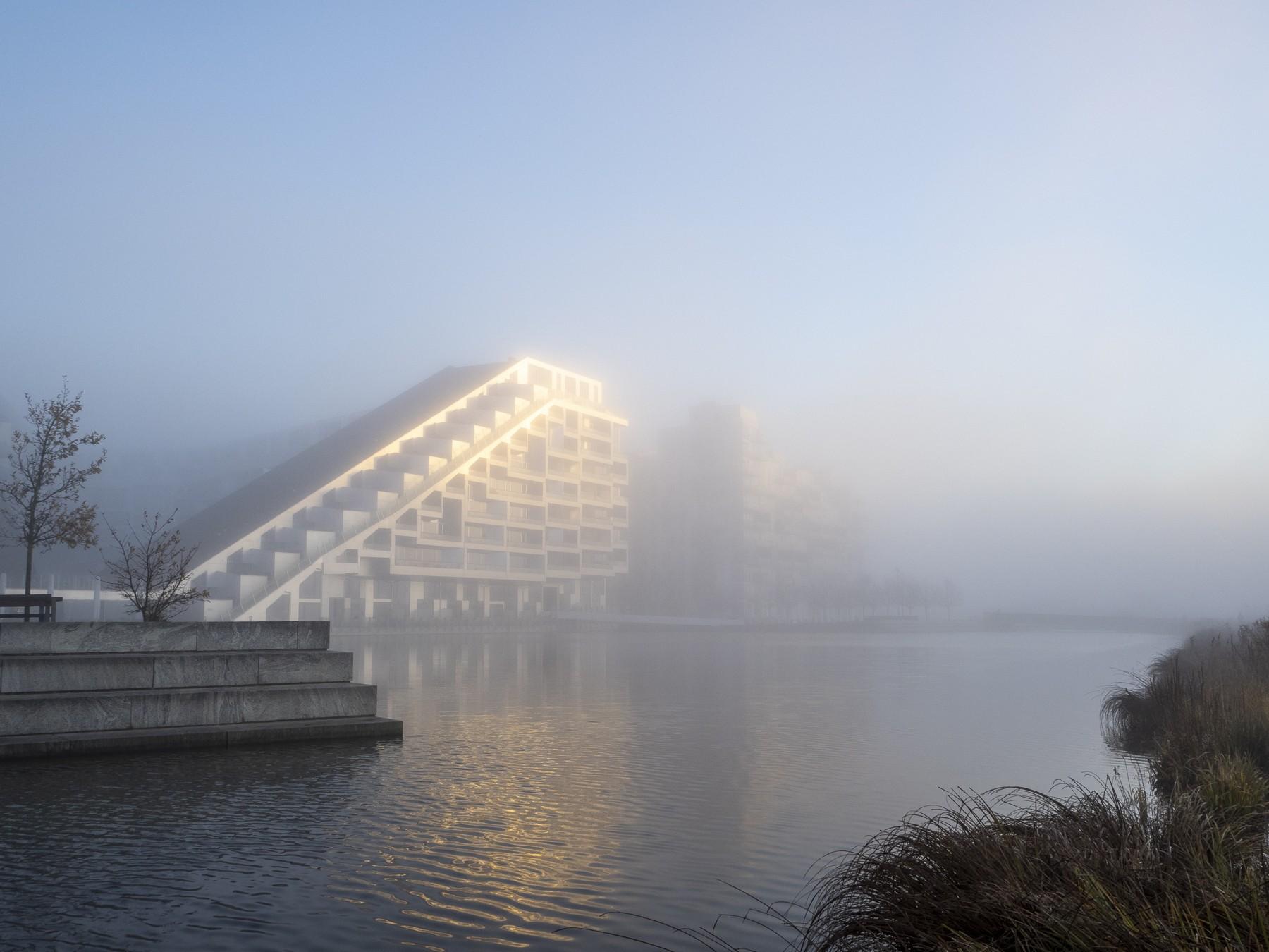 Ørestad, 8-tallet og Kalvebod Fælled i tyk tåge