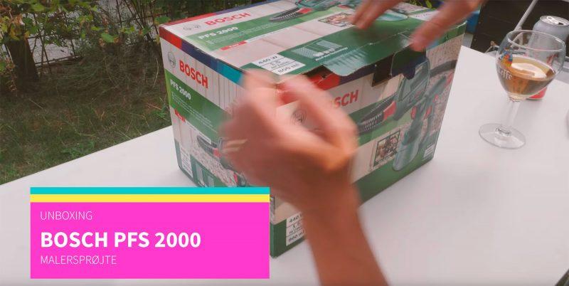 Unboxing Bosch PFS 2000
