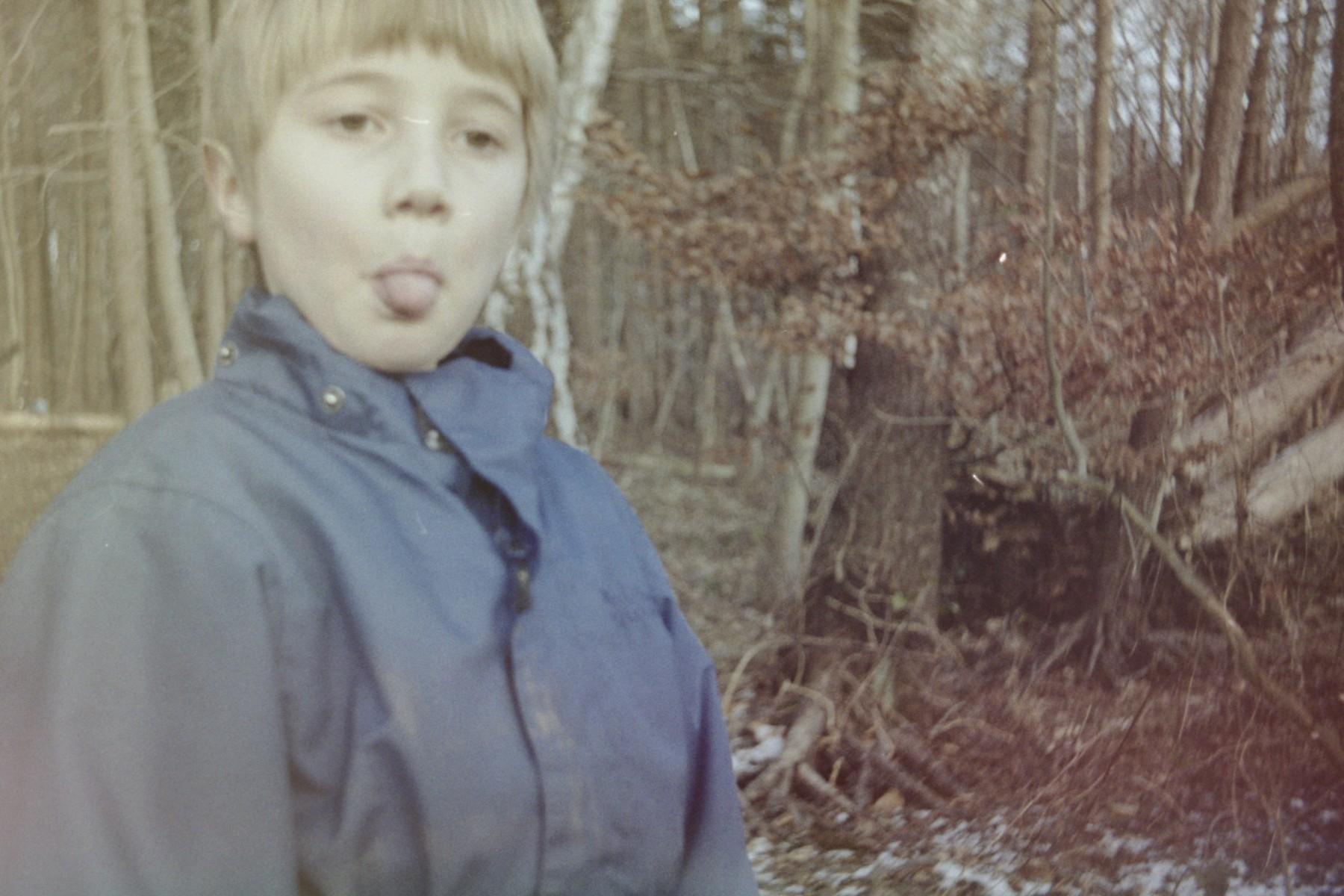 På skovtur/kælketur med et Lomo Smena
