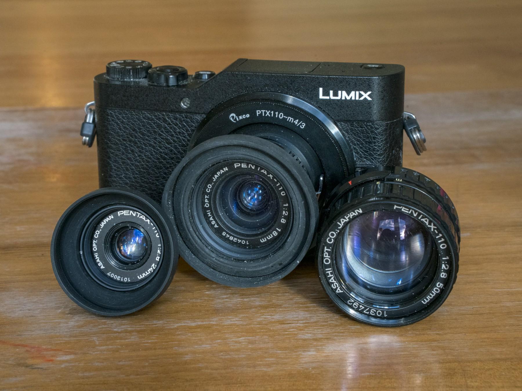 Lumix GX-800 med Pentax 110 objektiver