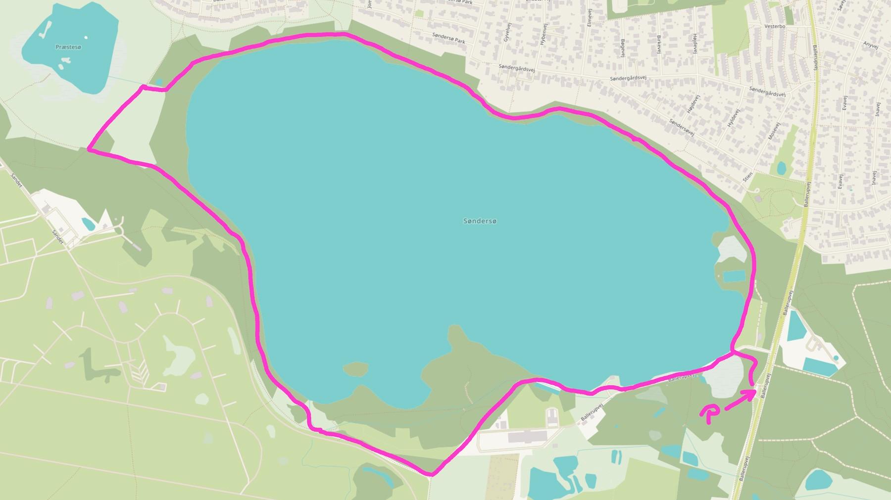Søndersø rundt – Kort fra © OpenStreetMap-bidragsydere – Open Street map er åbne data