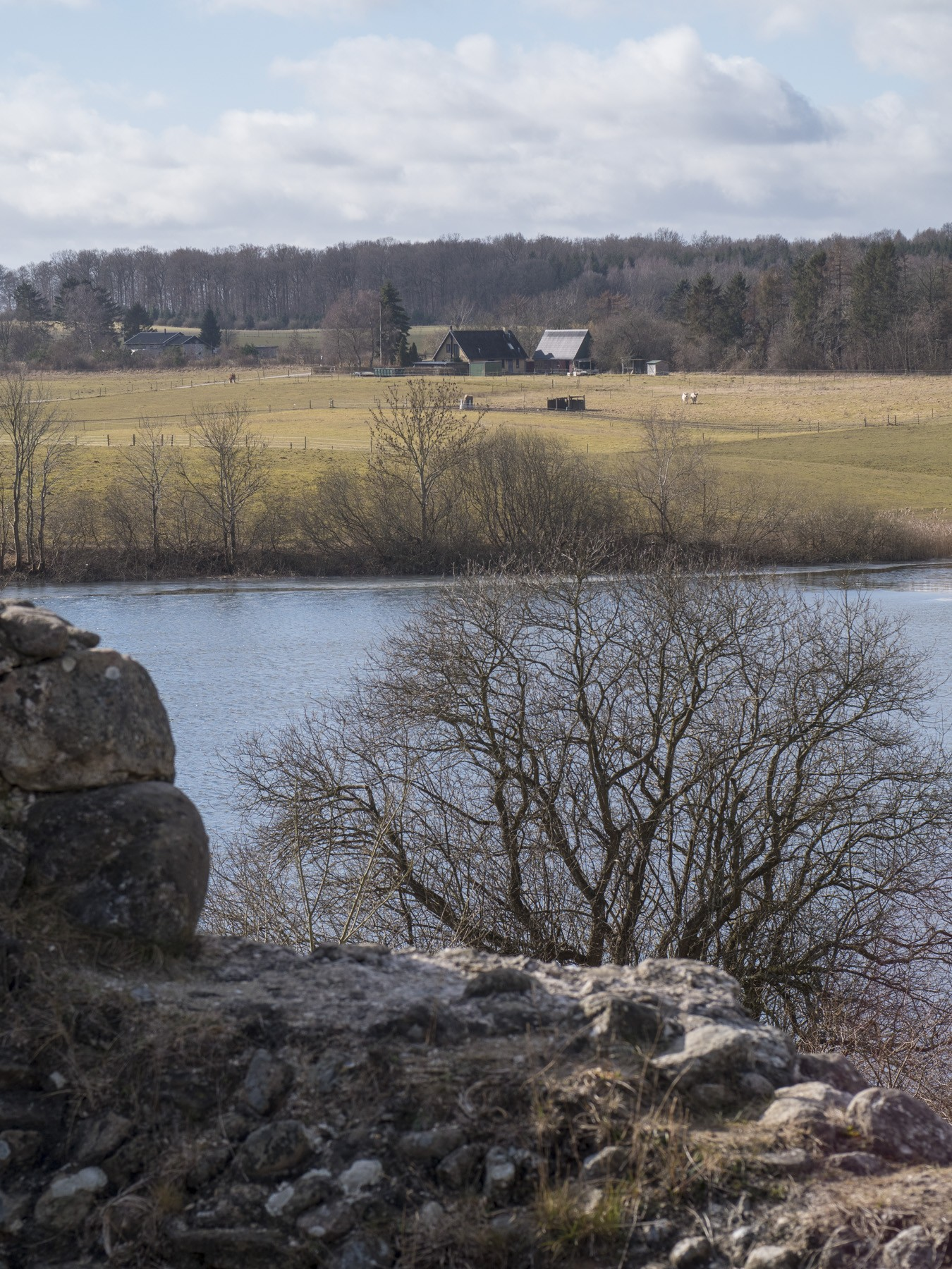 Udsigten over Bastrup Sø fra Bastruptårnet
