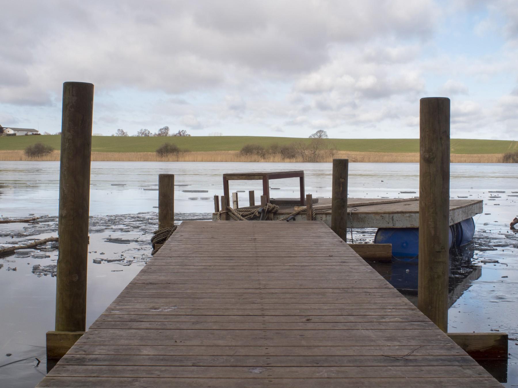 Bade/bådebro ved Bastrup Sø