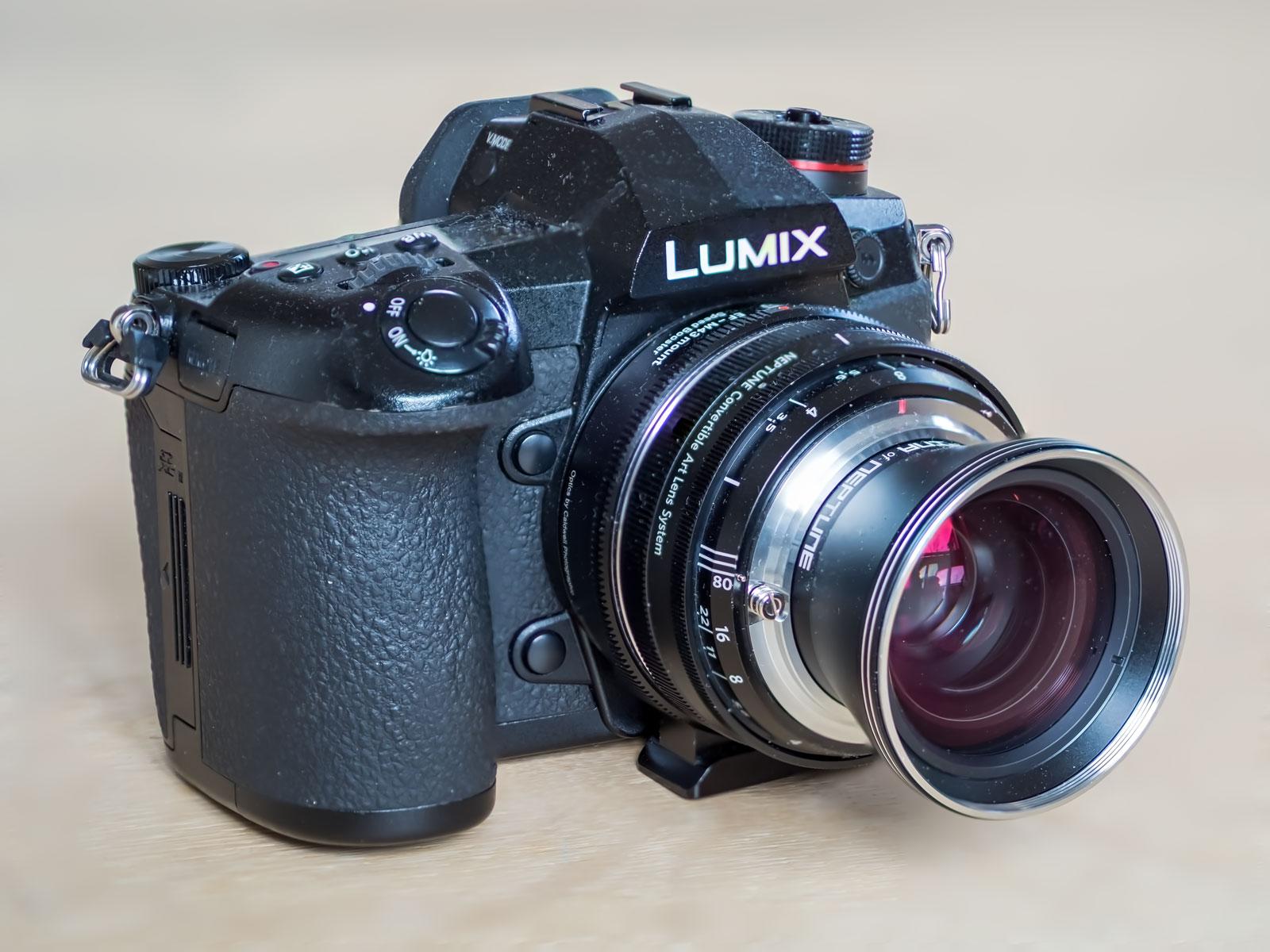 Panasonic G9 med Speedbooster og Lomography Neptune