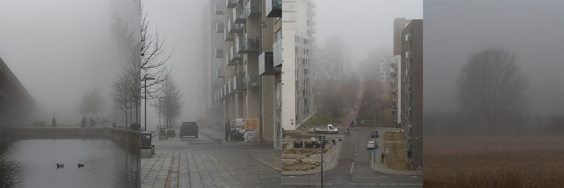 Tyk tåge i Ørestad