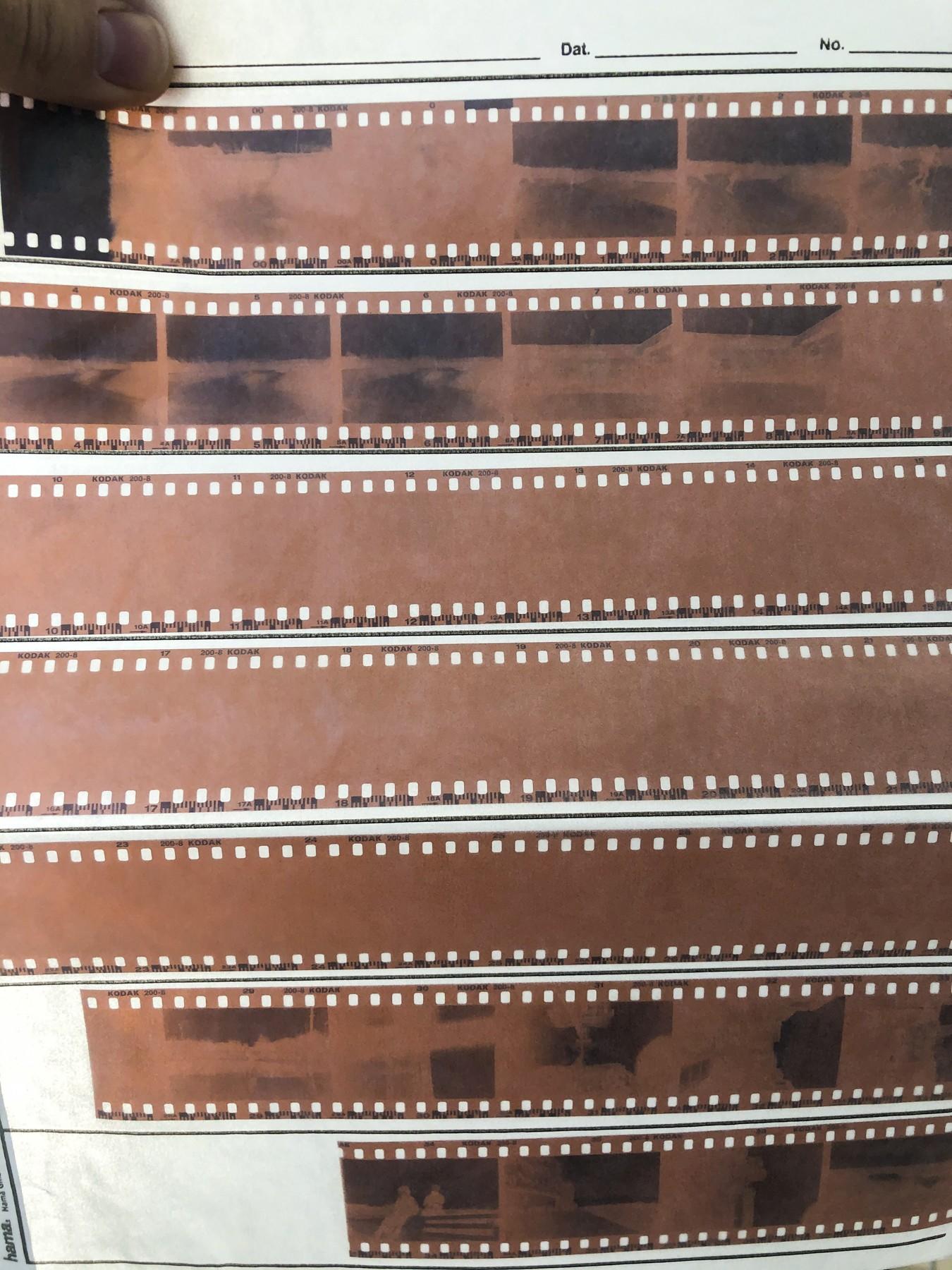 Fejleksponering - Agfa Reusable 35mm Camera