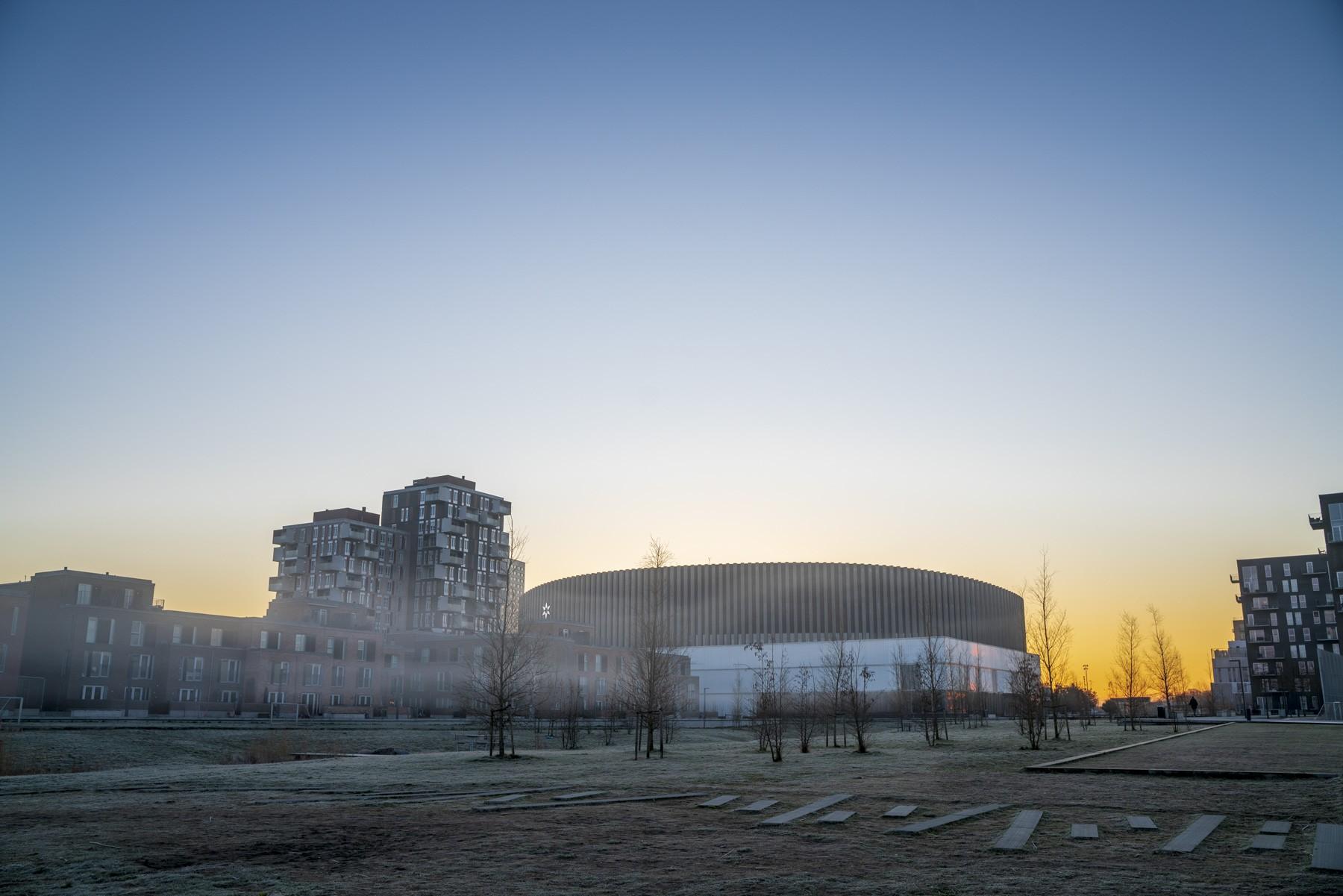 Ørestad og Arenakvarteret i tåget farveeksplosion