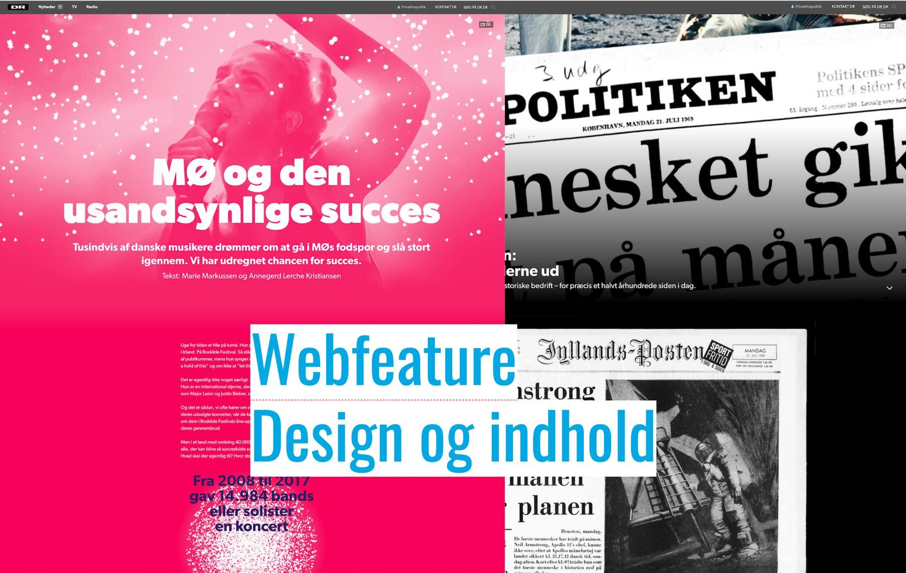 Webfeature: Design og indhold