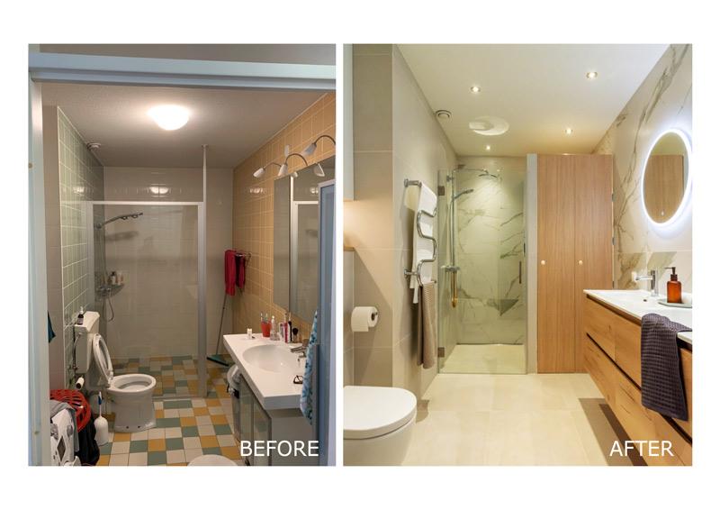 bathroom design before after