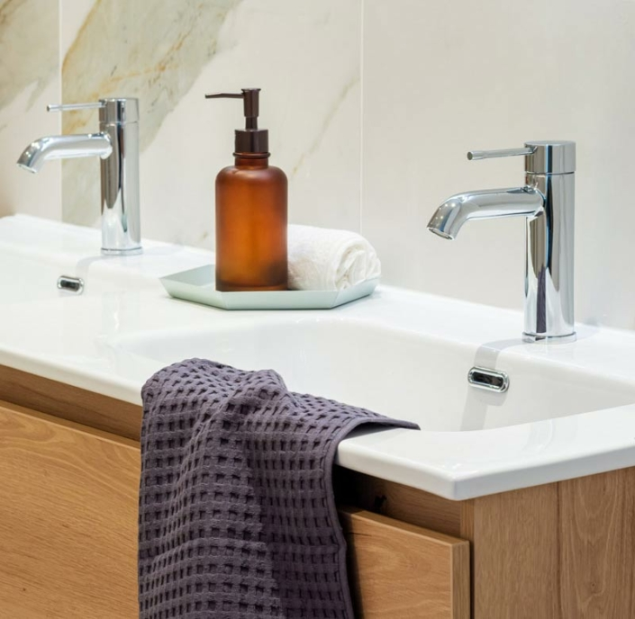 bathroom marble design detail