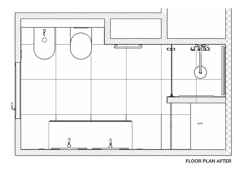 bathroom marble design floor plan after