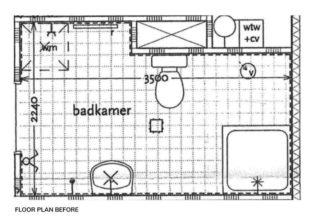 bathroom marble design floor plan before