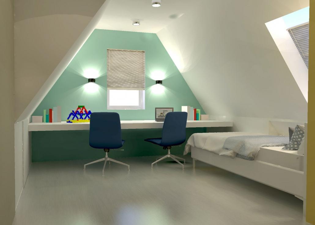 bedroom boy attic design