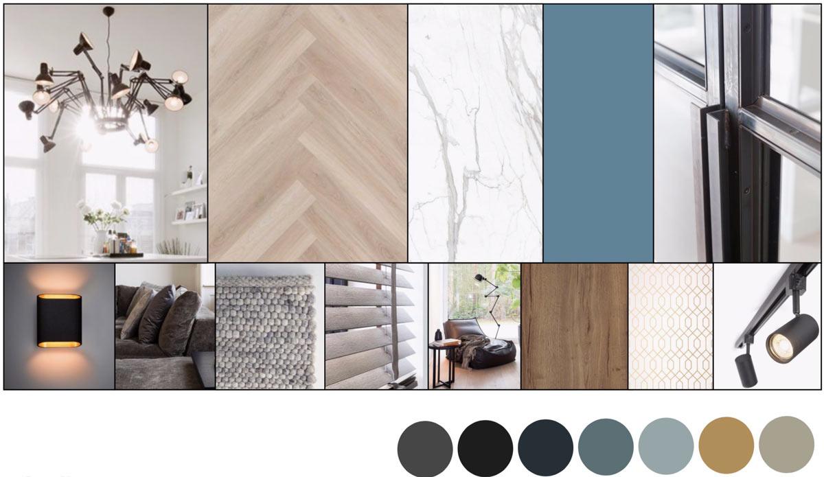 century home design moodboard