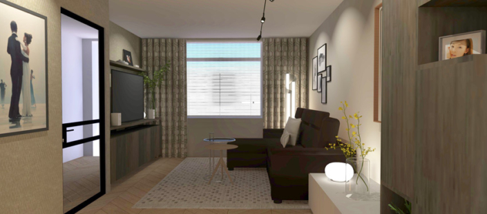 Extended Living Room Design