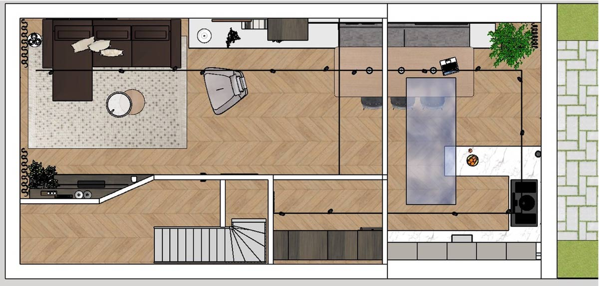 extended living room floorplan