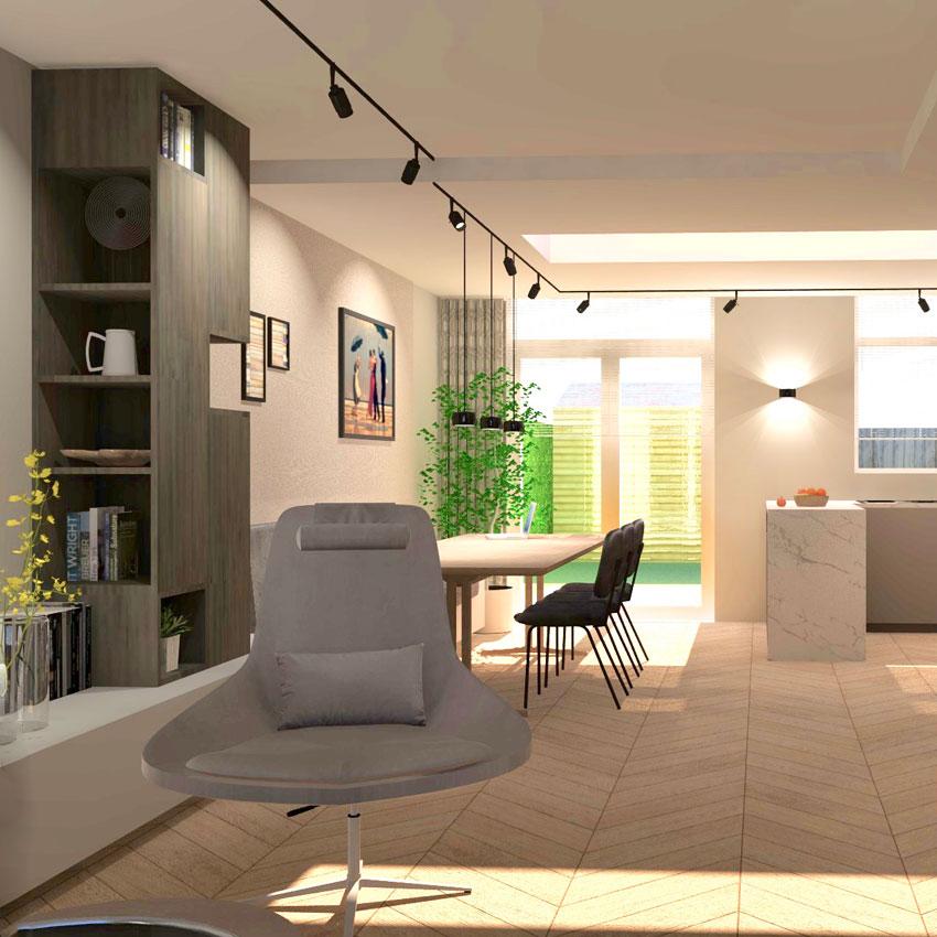 Extended Living Room Design
