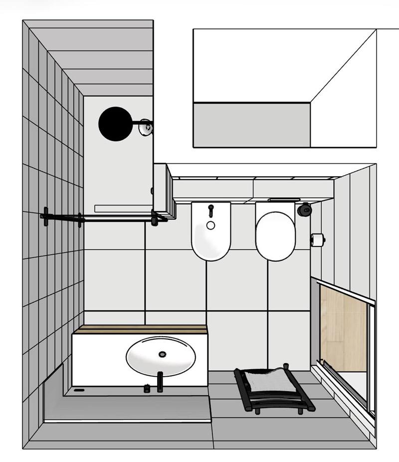 renovation bathroom small floorplan