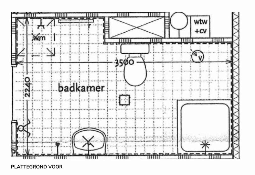 badkamer ontwerp marmer plattegrond voor