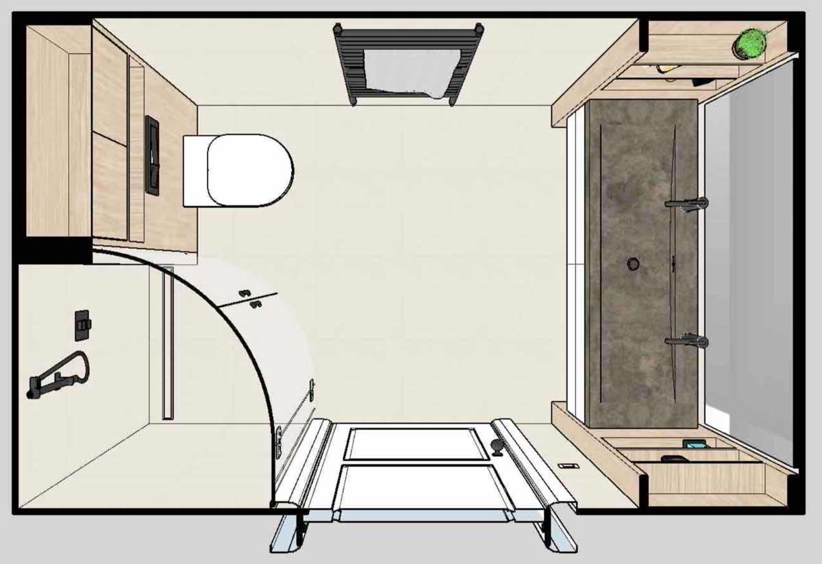 Kleine Badkamer op Maat Plattegrond