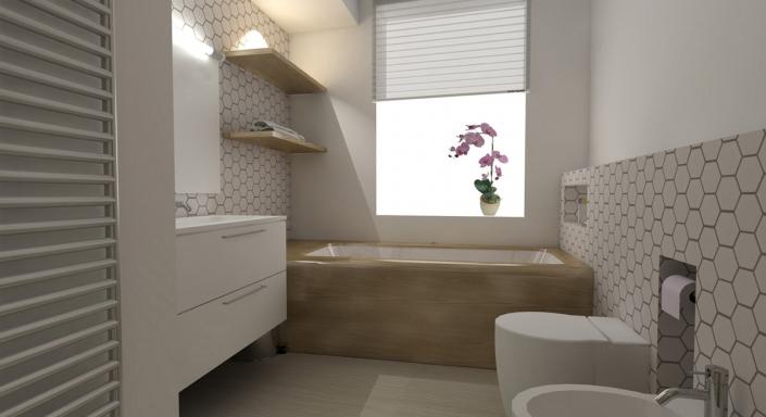Modern Appartement Ontwerp Badkamer