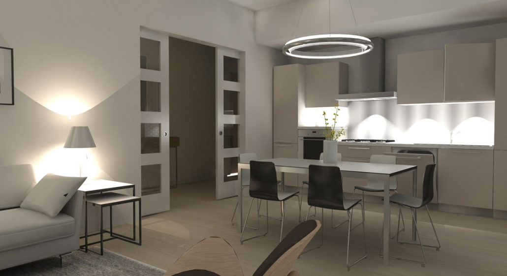 Modern Appartement Ontwerp Eetkamer