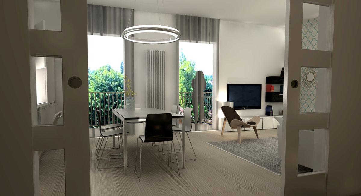 Modern Appartement Ontwerp Hal