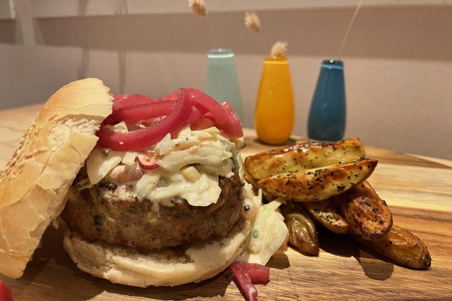 Saftig og god burger