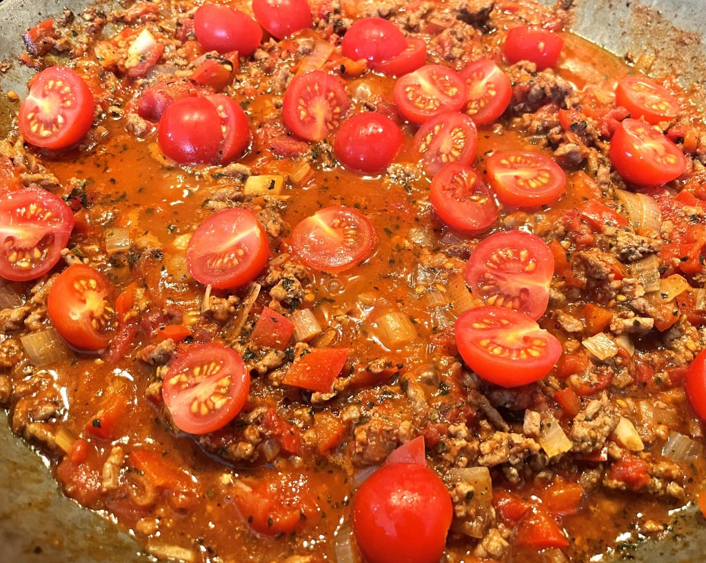 pasta med kjøttdeig tomat og parmesan